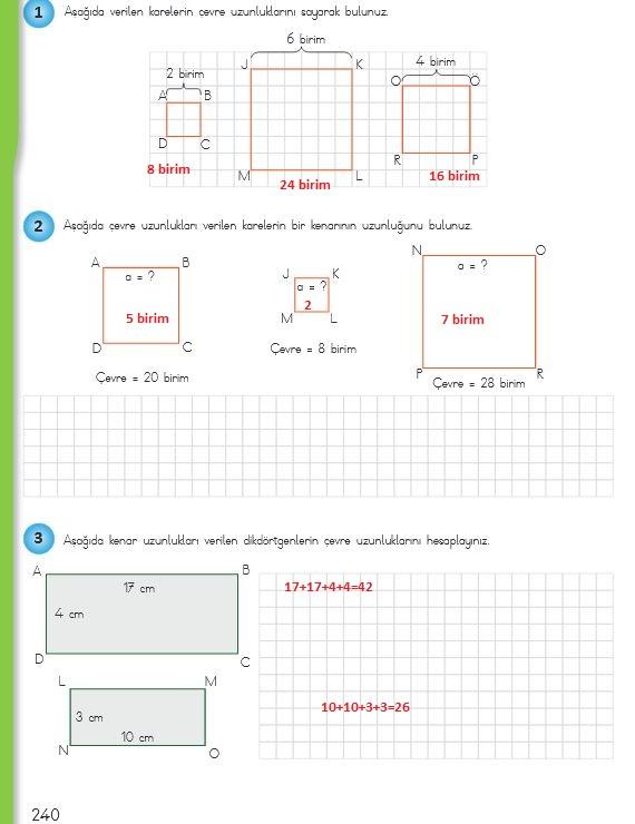 4.sınıf matematik 240.sayfa cevapları meb yayınları