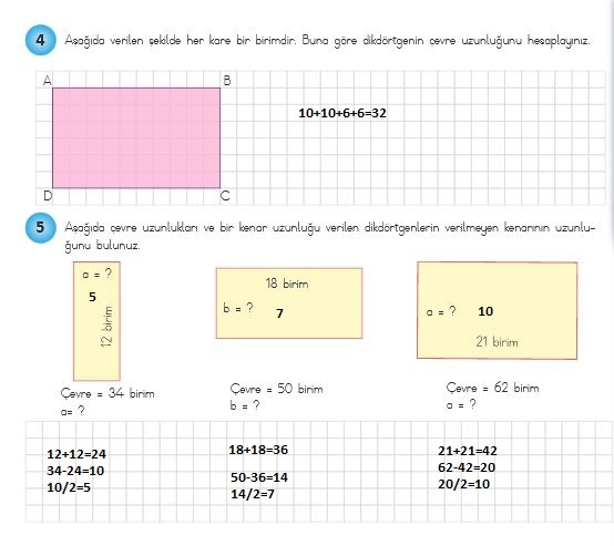 4sınıf matematik 241.sayfa cevapları meb yayınları