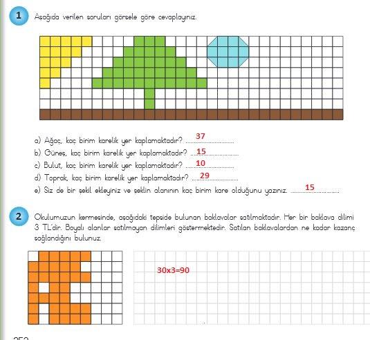 4.sınıf matematik 252.sayfa cevapları meb yayınları