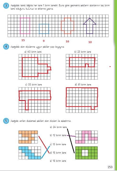 4.sınıf matematik 253.sayfa cevapları meb yayınları