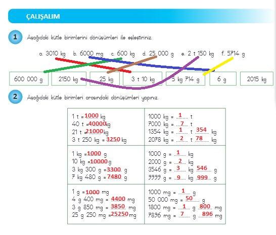 4.sınıf matematik 265.sayfa cevapları meb yayınları