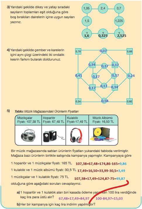 5.sınıf matematik 166.sayfa cevapları meb yayınları