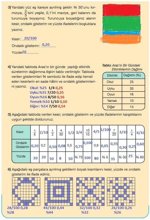 5.sınıf matematik 173.sayfa ecvapları