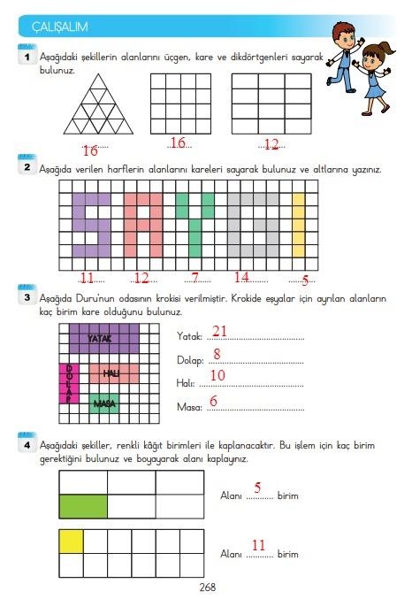 3.sınıf matematik 268.sayfa cevapları meb yayınları
