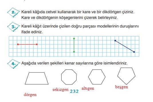 3.sınıf ada matematik 232.sayfa cevapları