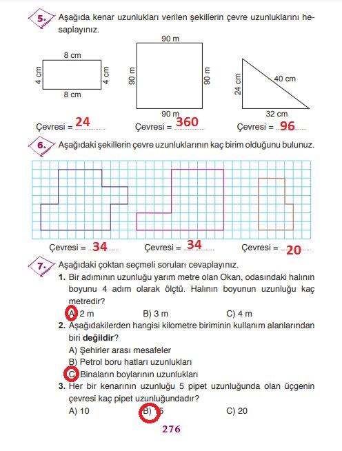 3.sınıf matematik 276.sayfa cevapları ada yayınları