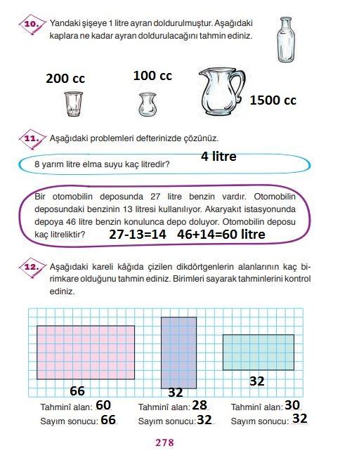 3.sınıf ada 278.sayfa matematik cevapları