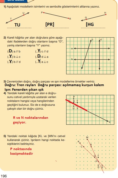5.sınıf matematik 196.sayfa cevapları