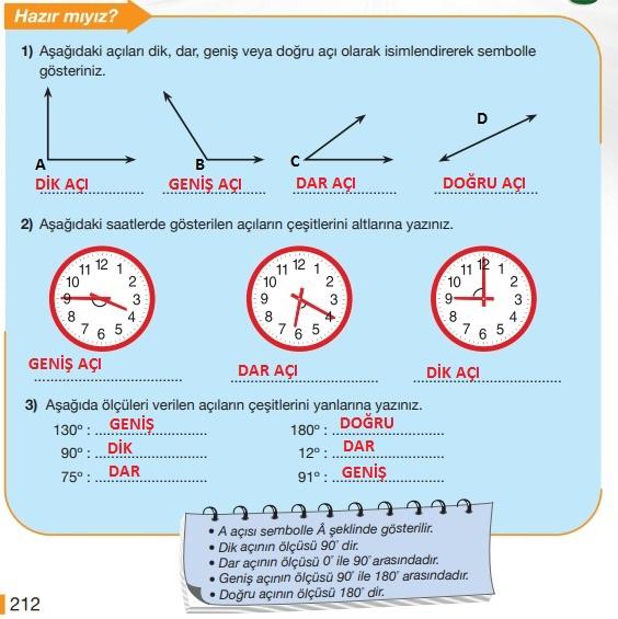 5.sınıf matematik 212.sayfa cevapları