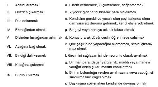 6. Sınıf Türkçe Ders Kitabı 34. Sayfa Cevapları