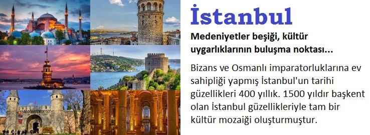 İstanbul İçin Tanıtım Broşürü Örneği